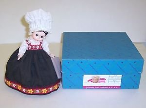 "Madam Alexander Doll Miss Norway 8"" Tall dressed in a long black jumper"
