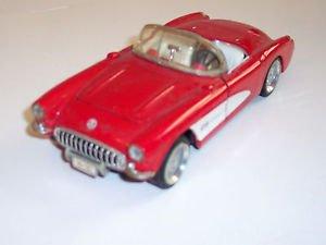 Sunnyside diecast 1957 Chevrolet Corvette, Red and White, 1:24 scale
