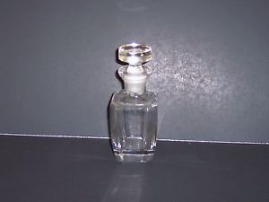 """Perfume Bottle, Clear Glass, stands 6""""high. Plain but Elegant."""