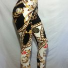 Gold Chain Link Scroll Print Leggings by Cali West Boutique