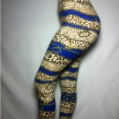 Leopard Stripe w/ Chain Animal Print Leggings by Cali West Boutique