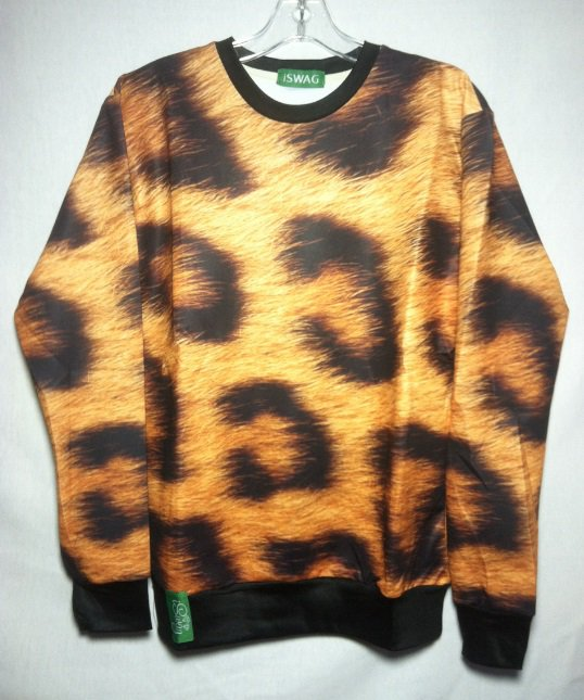 3D Sweatshirt Tiger Stripe Animal Print Long Sleeve by Cali West Boutique