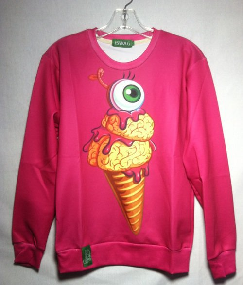 3D Sweatshirt Ice Cream Cone Eye Ball Long Sleeve by Cali West Boutique