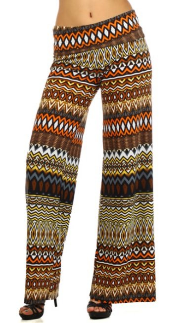 Palazzo Tribal Aztec Print Wide Leg Leggings by Cali West Boutique