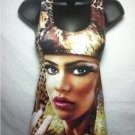 Cleopatra w/ Leopard Animal Print Tank Top by Cali West Boutique