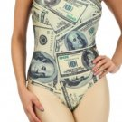 "Bodysuit ""100 Dollar Bill"" Money Print Top by Cali West Boutique"