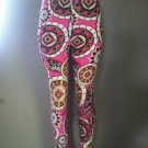 Pink Paisley Print Leggings by Cali West Boutique