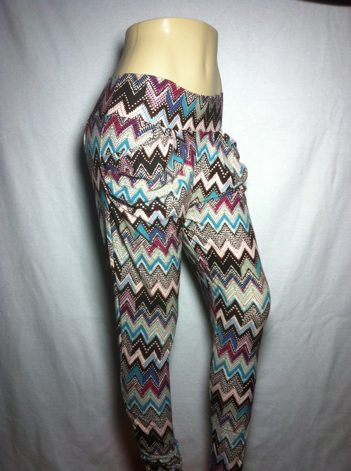 Tribal Chevron Print Jogger Leggings - by Cali West Boutique