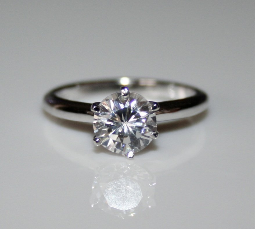 STERLING SILVER 7MM 1.25CT CZ SOLITAIRE RING (SIZES G - V)