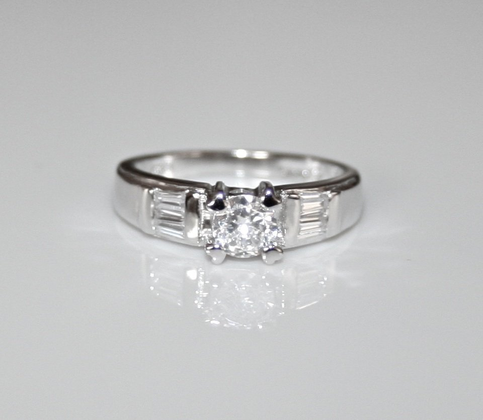 STERLING SILVER 5MM 0.50CT CZ SOLITAIRE RING (SIZES J - L)