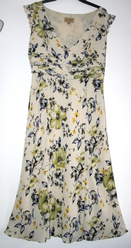 Paul Costelloe Gorgeous Floral Designer Dress Size 12 Worn Once