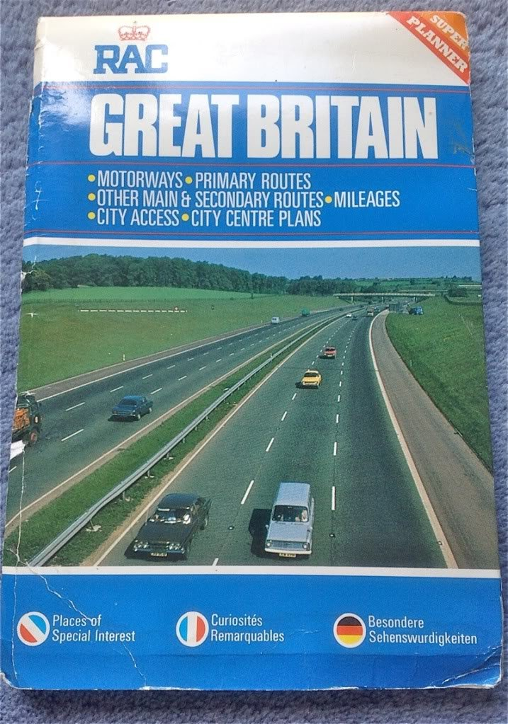 1984 RAC MAP OF GREAT BRITAIN - SCALE 10 MILES TO 1 INCH
