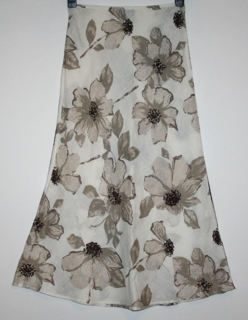 Marilyn Anselm Hobbs Pretty 100% Linen Unlined Skirt Size 6 Worn Once