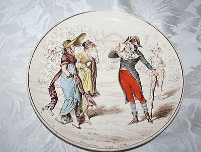 CREIL ET MONTEREAU LA MODE DEPUIS CENT ANS - DIRECTOIRE 1795-1799 PLATE/ASSIETTE