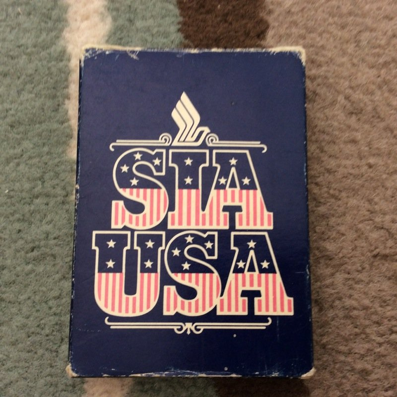 VINTAGE SINGAPORE AIRLINES PLAYING CARDS USED