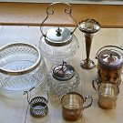 ASSORTMENT OF SILVER PLATED ITEMS MOSTLY MARKED EPNS