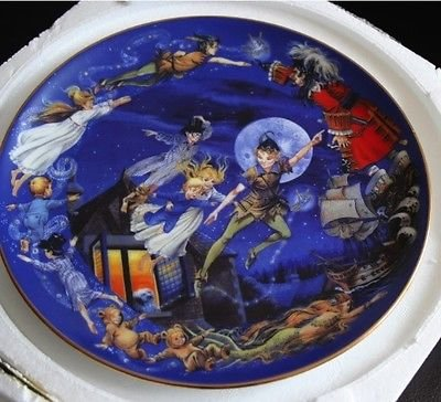 Bradex Disney Collectors Plate Ltd Edition Peter Pan: Straight On Til Morning