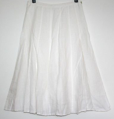 *EAST* LINED LINEN PANEL SKIRT SIZE 14