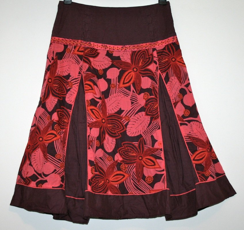 *FAT FACE* PRETTY LINED GODET SKIRT SIZE 10/12 WORN TWICE