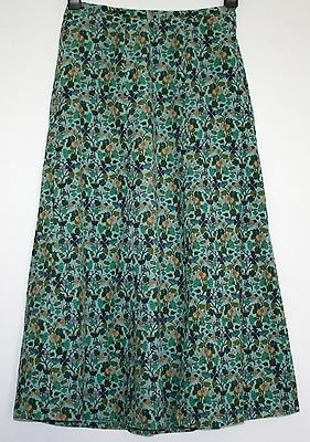 *COTSWOLD* GORGEOUS FLORAL SOFT CORD LINED SKIRT SIZE 10/12