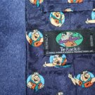 WONDERFUL 1993 FLINTSTONES ITALIAN SILK TIE BY TIE RACK