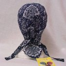 Navy Blue Paisley Chemo Cancer Hat Durag Cap Cotton Unisex One Size New