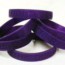 Purple Awareness Wristband Bracelets Lot 6 Piece Many Cancer Causes Silicone New