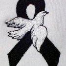 Melanoma Awareness Month May Black Ribbon White Dove Hoodie Sweatshirt M New
