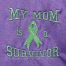 My Mom is a Survivor Green Ribbon Purple T Shirt S New