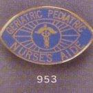 Retired Geriatric Pediatric Nurse's Aide Emblem Pin Gold Plated New 953
