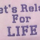 Let's Relay for Life Purple Breast Cancer Pink Crew Sweatshirt Unisex 2X New