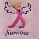 Breast Cancer Survivor Sweatshirt Awareness Ribbon Angel Pink Crew Neck S New