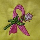 Breast Cancer Awareness Pink Ribbon White Rose Yellow S/S T-Shirt 3X Unisex New