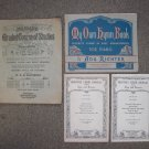 4 Lot Vintage Piano Course Studies Hymn Choir Music Song Sheet Book Used