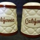 Diamond Block California Travel Souvenir Salt Pepper Shaker Set Japan Vintage