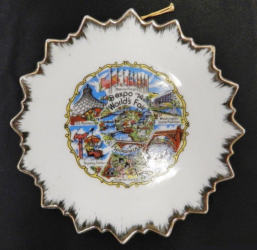 Worlds Fair Expo Plate 1974 Spokane Washington USA Decorative Wall Vintage