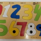 Vintage Small World Toys AIMS Wood Wooden Number Puzzle 1985 No. 2531 Ages 3-5