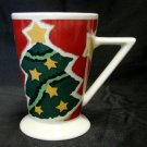 Christmas Holiday Tree Star Hot Chocolate Milk Cookies Tall Cup Mug Collectible