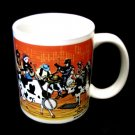 Bluegrass Cowtown Band Pastoral Orchestra Mug Cup Moosical Cows 2003 Collectible