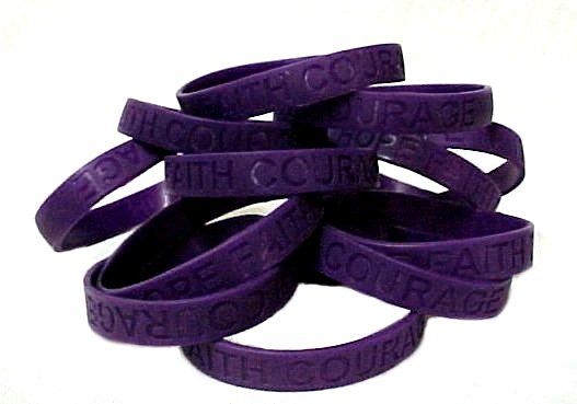 Arnold Chiari Malformation Lot of 100 Purple Awareness Bracelets Silicone New