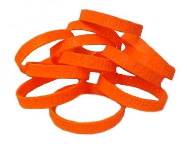 Ms Multiple Sclerosis Lot Of 12 Orange Awareness Bracelets
