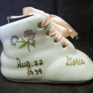Vintage Chadwick Floral Flower Doris 1939 Baby Announcement Lace Up Bootie