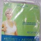 Announcements Maternity Nursing Bra Cotton Lace White Womens 36C No Wire New
