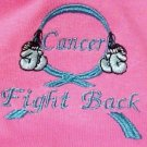 Fight Back Cancer Awareness Teal Boxing Gloves Hot Pink S/S T Shirt Unisex M New