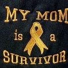 My Mom is a Survivor Orange Ribbon Black Crew Neck Sweatshirt Unisex XL New