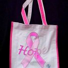 Pink Ribbon Hope Tote Goody Book Bag Breast Cancer Awareness Student Nurses New