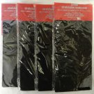 4 Pc Lot Black Jumbo Stretchable Reusable Text Book Binder Cover School New