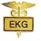 EKG Lapel Pin Gold Inlaid Graduation Recognition Emblem Pins Caduceus 3511G New