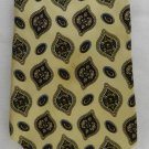 Tommy Hilfiger Yellow Red Paisley 2 Tone Silk Casual Dress Mens Neck Tie