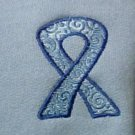 Colon Cancer Awareness Blue Ribbon Light Blue Crew Neck Sweatshirt M Unisex New